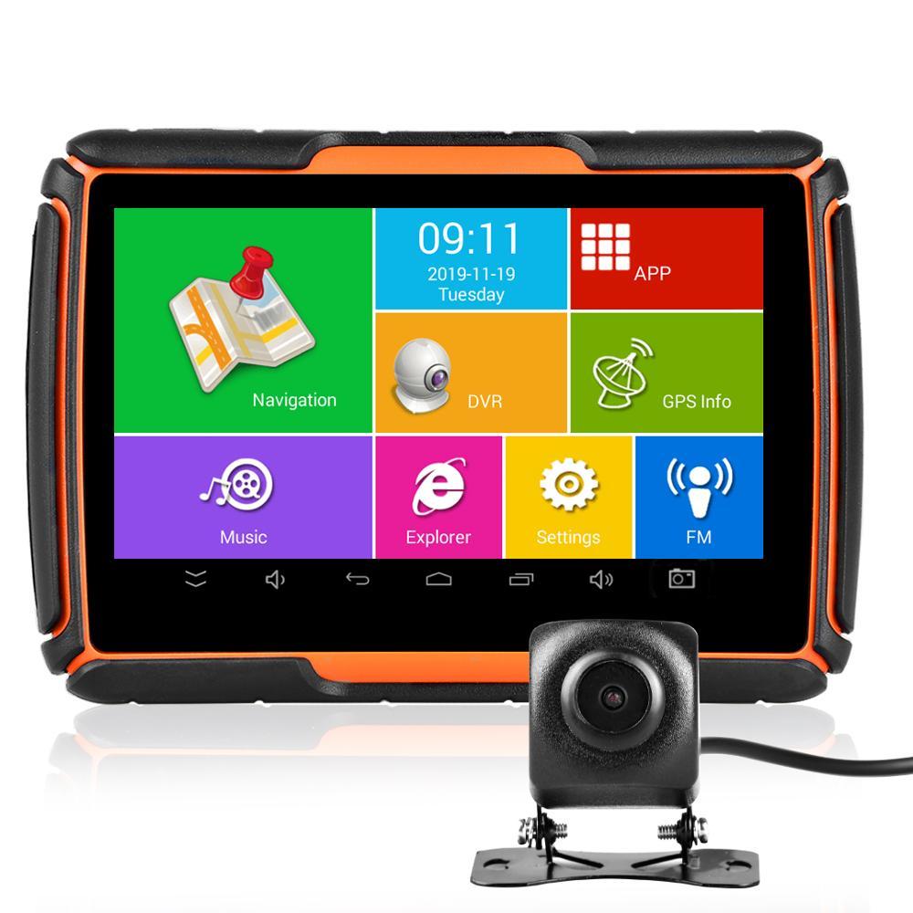 Fodsports Motorcycle Android GPS Navigation 720P Video Recorder Waterproof Bluetooth GPS Navigator Car Motorbike Camera DVR