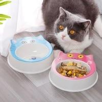 pet cat dog universal cute cat face shaped bowl single bowl cat funny feeding bowls durable pet feeder supplies