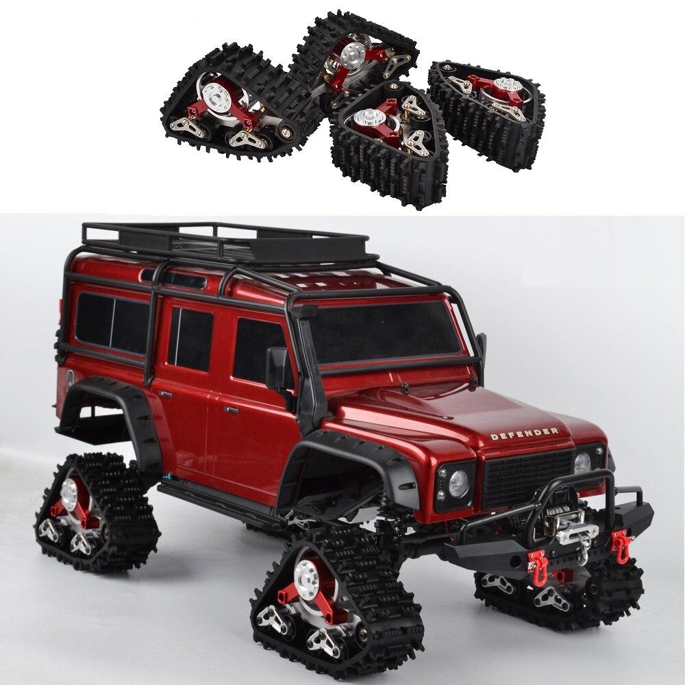 Coche trepador de control remoto TRX4 1/10, neumático de nieve, rueda de pistas, conversión de Sandmobile para Traxxas TRX-4