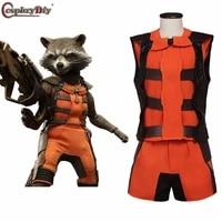 cosplaydiy guardians rocket raccoon cosplay costume adult movie halloween outfit custom made