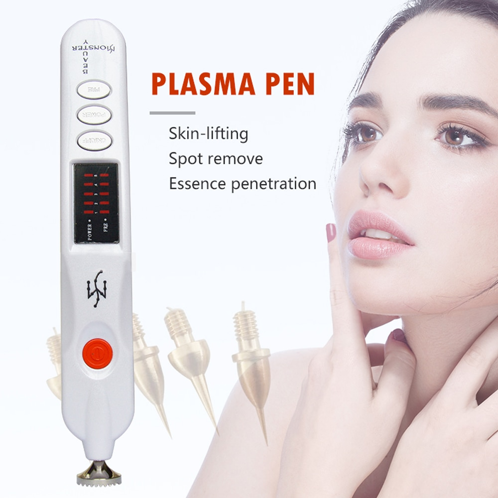 2019 Profession Beauty Monster Plasma Pen Dark Spot Pigment Mole Tattoo Wart Removal Tool  Skin Firming Ionic Skin Care Machine
