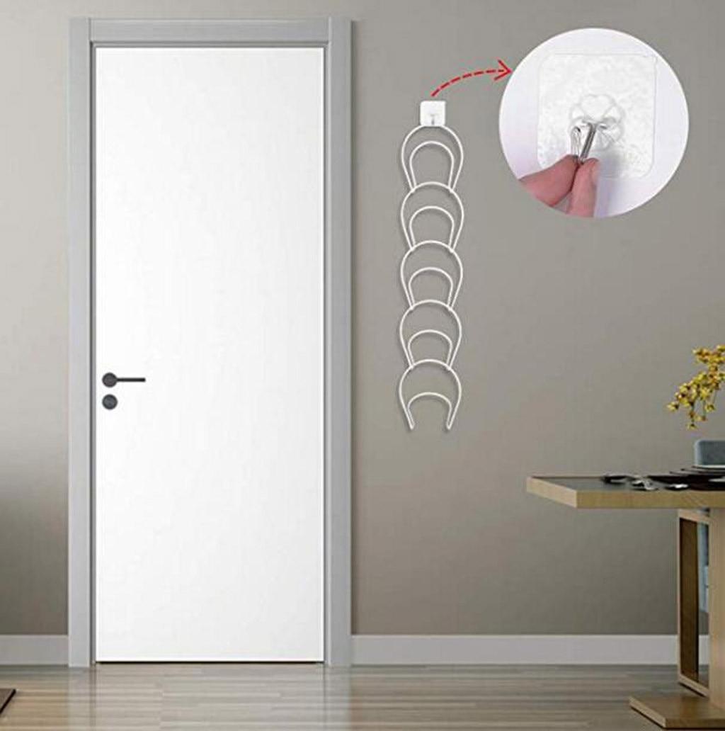 Настенная дверная вешалка для шляп, дверные Крючки и липкие крючки включают в себя Домашний Органайзер для ванной, вешалка для одежды, пальт...