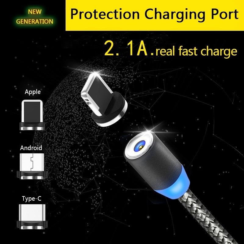 2.1A de carga rápida Cable usb magnético para Huawei honor 10 9 lite 8X 8C 8 7X 7A 7C 6C PRO NOVA 3i 3 MATE 20 lite Y9 2019 Cable