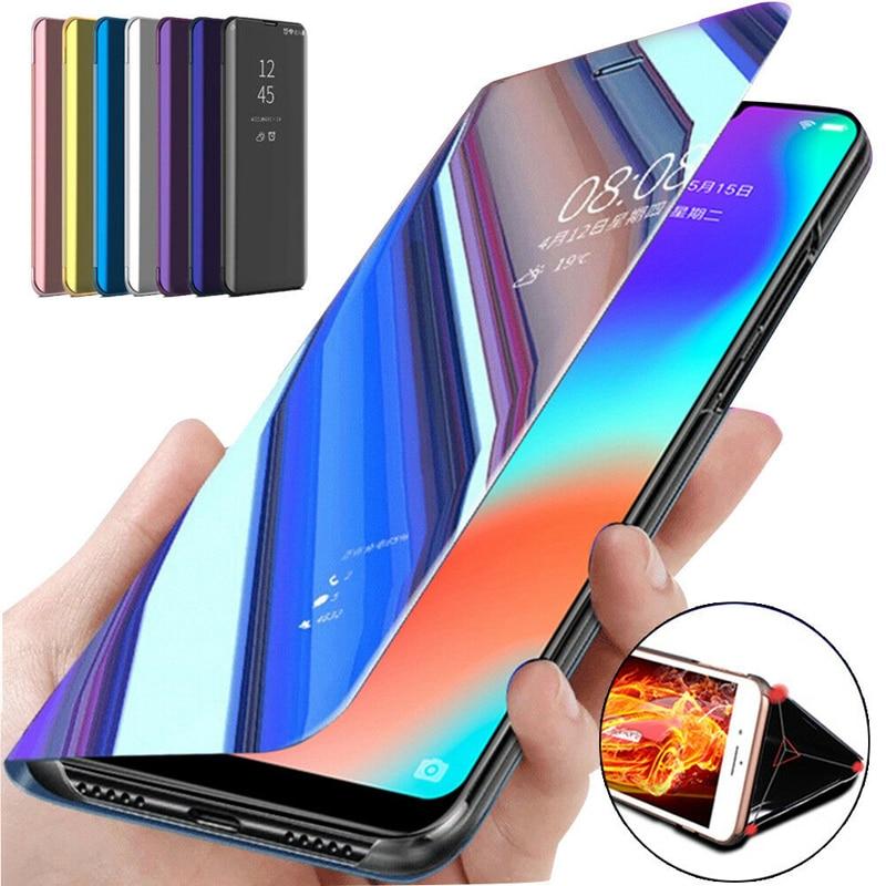 Funda abatible para espejo inteligente para Xiaomi Redmi 4X 5 Plus Note 4X 3 5 Pro 5X 5A A1 A2 6 6A S2 8 SE Mix 2 Max 3, cubierta protectora del teléfono