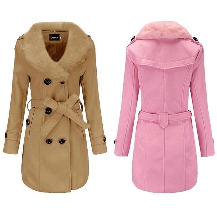 2020 معطف الصوف المرأة متوسطة طول المرأة سترة واقية ملابس الشتاء الكورية كبيرة الصوف طوق مزدوجة الوجه الصوفية معطف