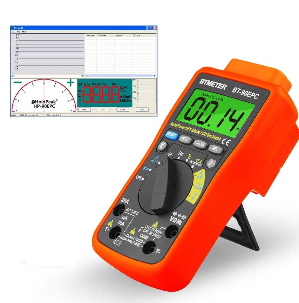 BTMETER BT-90EPC,High Voltage Digital Multimeter Auto Ranging 4000 Counts AC/DC Voltage Meter Tester Back Light