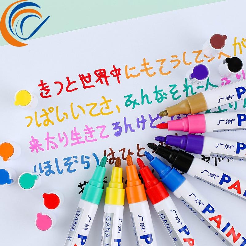 Ручка для маркировки краски, масляная ручка, 12 шт. в комплекте, ручка для рисования, сделай сам, фотоальбом, ручка для граффити