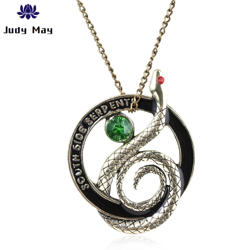 Unisex Riverdale serpientes del Sur collar de serpiente de cristal de collar de regalo de joyería para novio