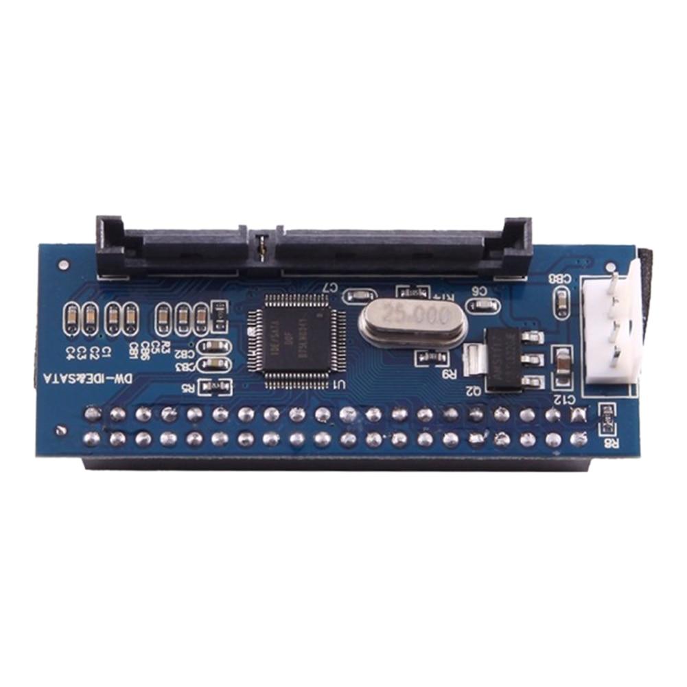 Placa base paralela macho hembra portátil de 40 pines convertidor estable conector de Metal disco duro datos IDE a Serial adaptador para disco duro SATA