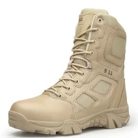 new mens military boots high top outdoor hiking shoes men anti collision quality army tactical boots