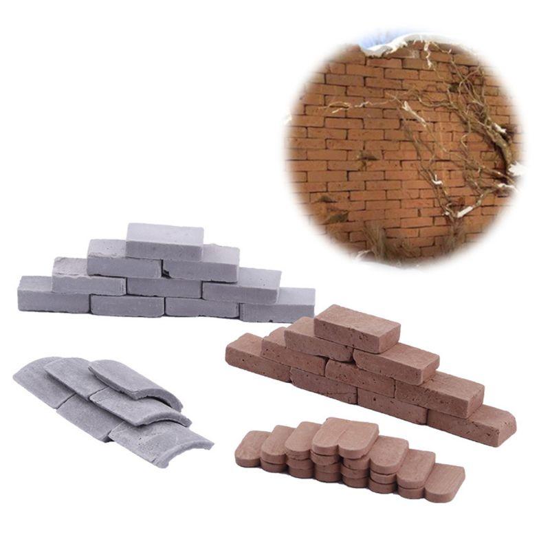 100/80 piezas 1/16 1/35 miniatura ladrillo azulejos escena modelo DIY arena Mesa Manual pared