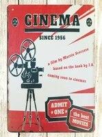 Panneau de cinema en metal etain depuis 1956  mignon et bon marche  decor de maison 20x30cm 8x12 pouces 30x40cm