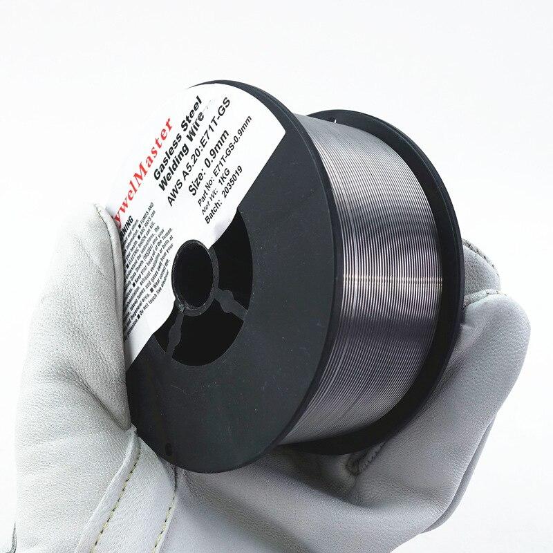 Gasless MIG Welding Wire Flux Cored Self Shield 0.8mm 0.9mm No Gas E71T-GS Iron Carbon Steel Arc Welder Materials