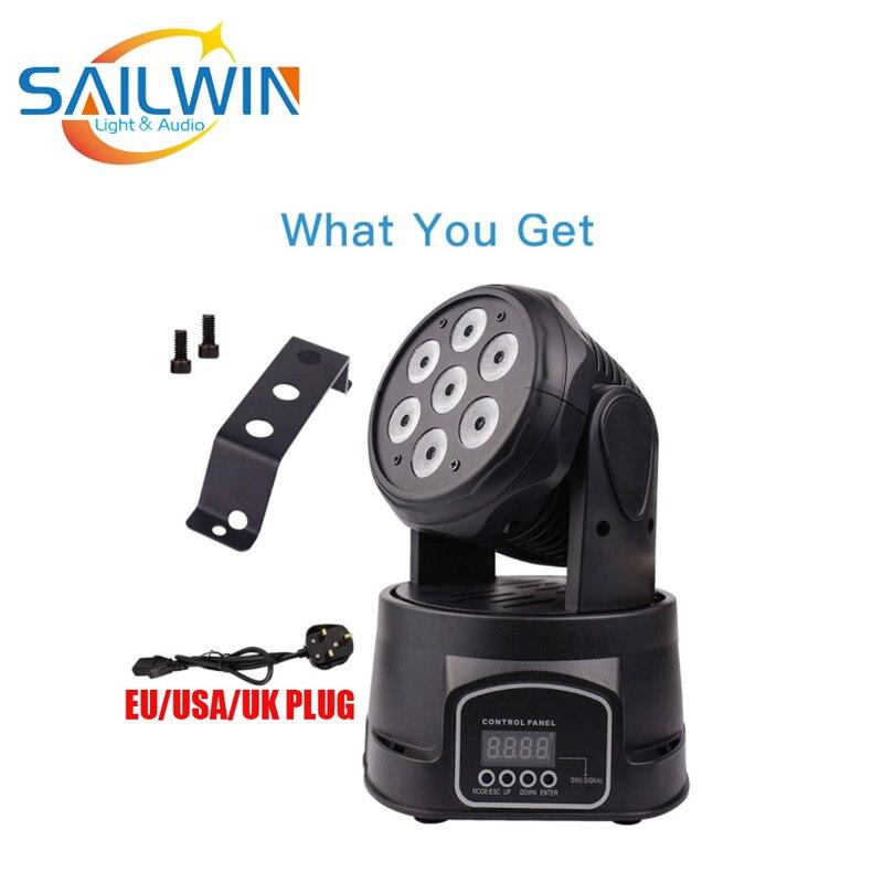 Светодиодный прожектор с движущейся головкой 4 в 1 100 Вт 7X8W|Профессиональное