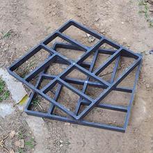Plástico preto que faz diy pavimento molde casa jardim piso estrada piso concreto calçada caminho de pedra molde pátio fabricante jardinagem