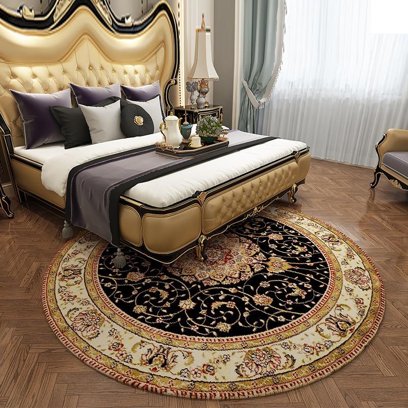النمط الأمريكي الرجعية السجاد المستديرة لغرفة المعيشة غرفة نوم الفارسي سجادة مستديرة العرقية بوهو السرير حصيرة أوروبا Rug كرسي البساط