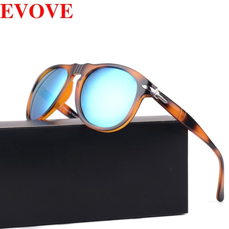 Evove gafas de sol polarizadas de marca, gafas de sol de tortuga de aviación para hombre, gafas de sol Vintage Punk para conducir, para pescar Retro Steampunk Retro