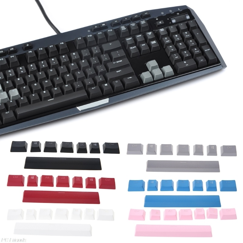 8Pcs Key Cap Double Backlit Additions Keycaps For Corsair STRAFE K65 K70 G710