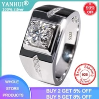 free sent certificate 925 sterling silver 6mm zirconia diamond engagement wedding band rings for men luxury party jewelry rj29n