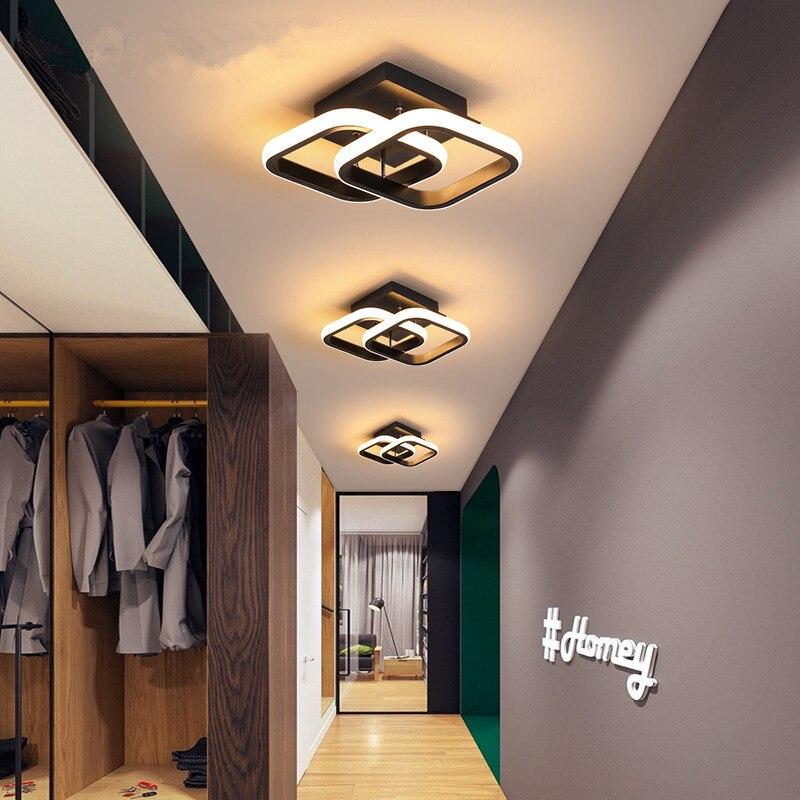 مصباح سقف Led بتصميم إسكندنافي حديث ، إضاءة داخلية ، مصباح سقف ، مصباح سقف مزخرف ، مثالي للباب والممر وغرفة النوم أو الشرفة ، 110 فولت ، 220 فولت