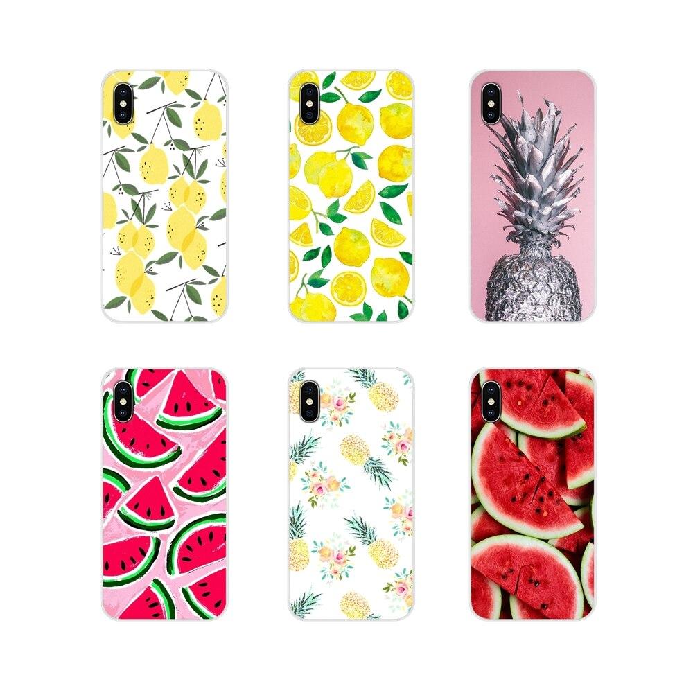 Verano fruta, piña, sandía limón TPU funda bolsa para el Huawei Honor 5X6X7 7A 7C 8 9 10 8C 8X20 30 Lite Pro