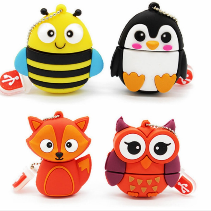 Pendrive usb barato lindo con forma de pingüino de dibujos animados, memoria usb de 4gb, 8gb, 16gb, 32gb, 64gb y 128gb, memoria usb
