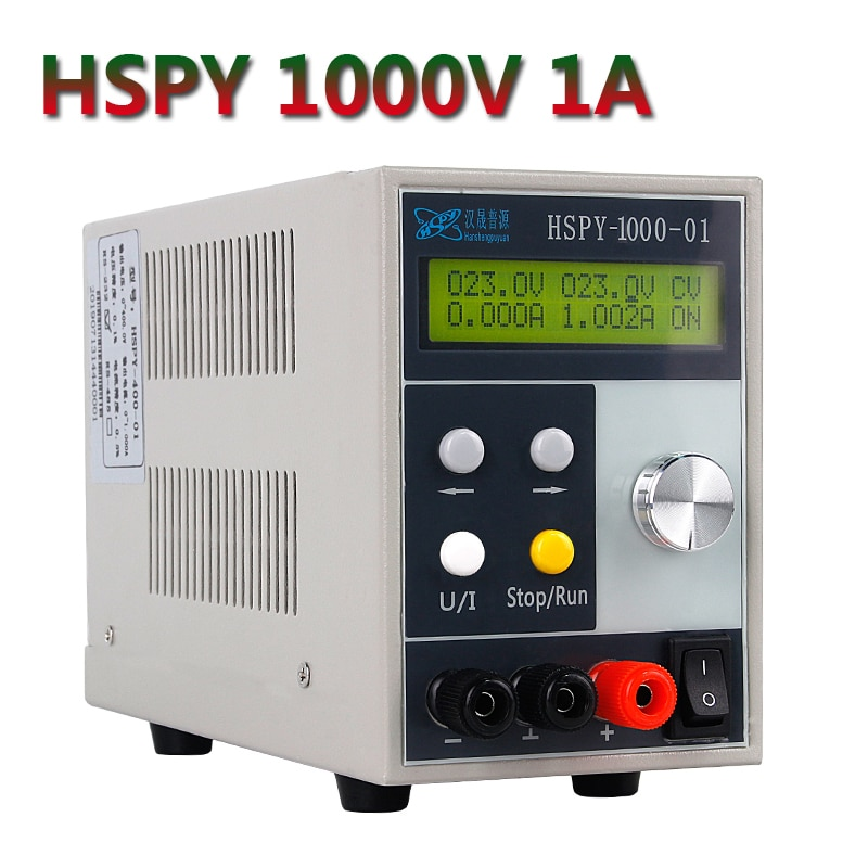 HSPY 1000 فولت 0.1A 1A 0.5A مختبر قابل للتعديل USB تيار مستمر الجهد مصدر إمداد بالتيار محول جهد كهربي الفولتميتر للبرمجة