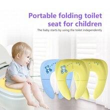De Viaje plegable orinal bebé asiento de entrenamiento para el baño cubierta urinario para niño pequeño cojín olla de los niños baño silla Pad Mat