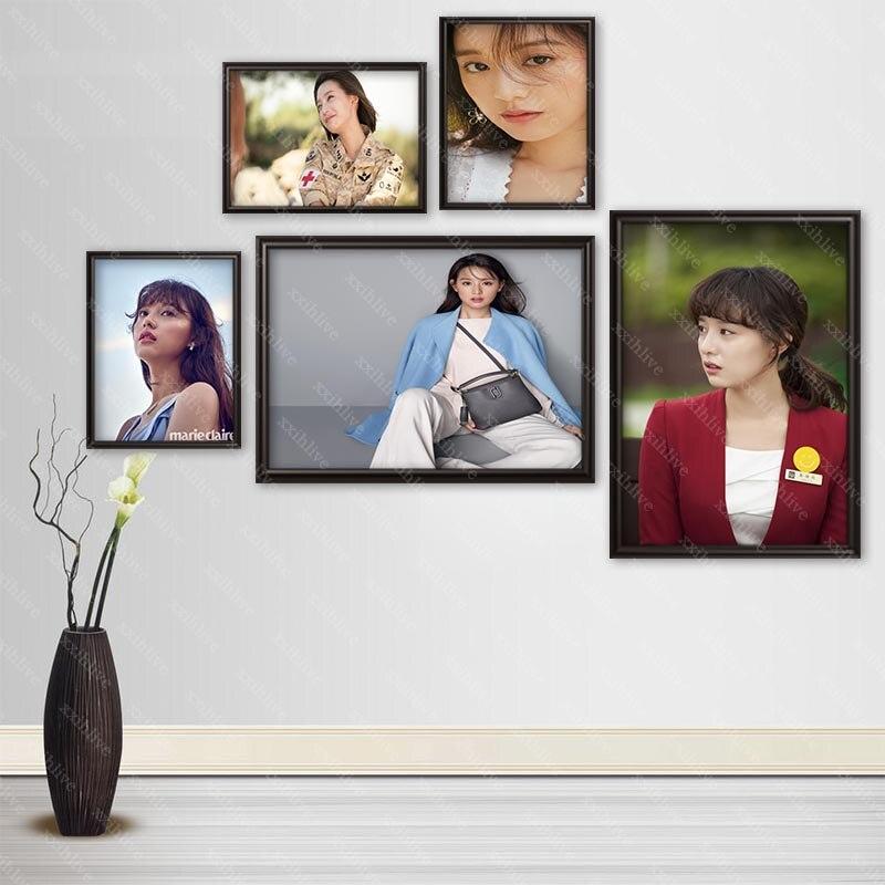 Актер Ким Цзи вон, плакаты, настенное искусство, Декор, картина, Современное украшение для дома, качественная Картина на холсте, больше разме...