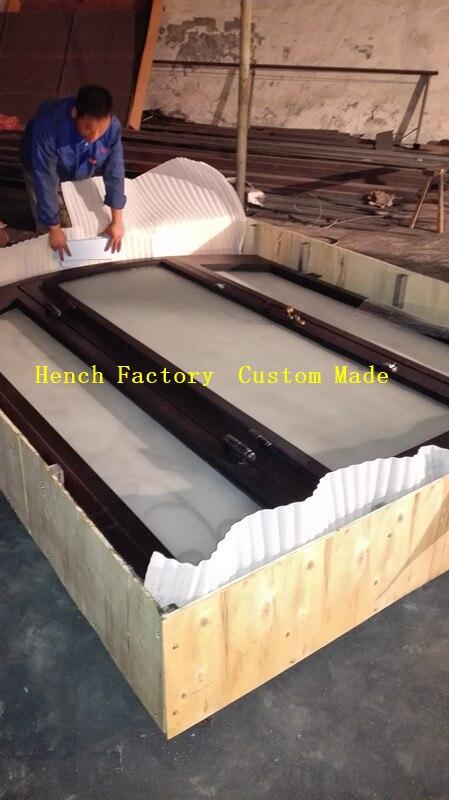 Puerta corredera de hierro, hecha a medida, 100% de fábrica de China, marca Shanghai Hench