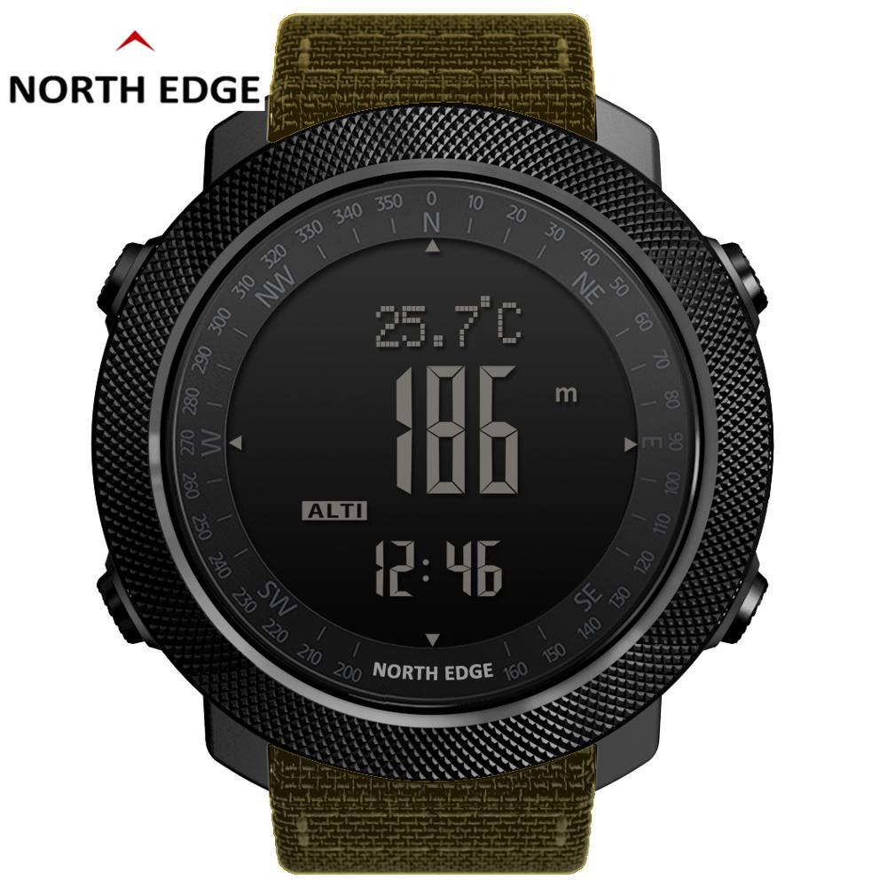 North Edge-reloj deportivo militar para hombre, cronómetro Digital, altímetro, brújula, resistente al...