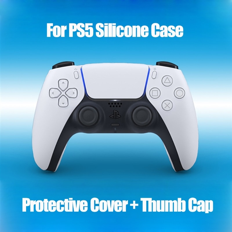 Silicone Case Protective Cover With Joystick Thumb Stick Grips Cap for S-ony PS5 enlarge