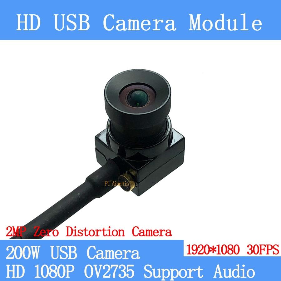 2MP distorsión cero cámara de vigilancia Full HD 1080P MJPEG OTG 30FPS USB Módulo de cámara CCTV Mini UVC de Linux Android