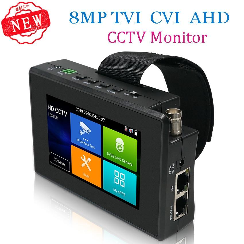 جهاز اختبار كاميرا IP 4K H265 H264 ، 5 بوصة ، 8MP AHD/TVI / CVI CVBS CCTV ، مراقب PTZ ، جهاز اختبار سريع ONVIF IPC POE