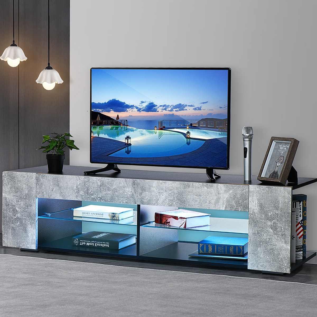 خزانة تلفزيون LED 57 بوصة ، حامل تلفزيون حديث ، وحدة تحكم تلفزيون Meuble لغرفة المعيشة ، أثاث منزلي ، شحن أمريكي