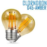 Диммируемые лампы в виде янтарных шариков для гольфа, 4 Вт, 6 Вт, 8 Вт, светодиодные лампы E27, E26, винтажный Ретро стиль, 220 В, в, промышленная люст...