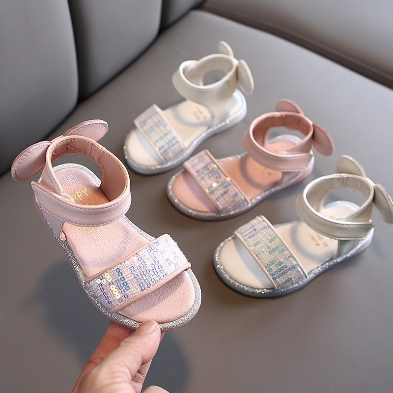 Children's Shoes Summer Girls Princess Shoes Sandals Fashion 1-3 Years Old Girls Baby Sandals  Children Sandal