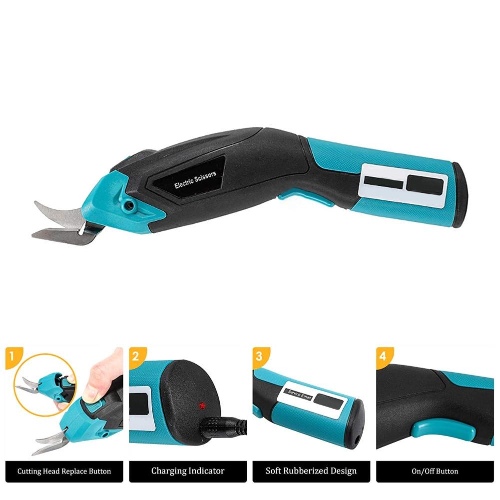 مقص 3.6 فولت لاسلكي محمول باليد مقص كهربائي USB قابلة للشحن النسيج المقصات أداة متعددة الاستعمالات لخياطة الحرف اليدوية