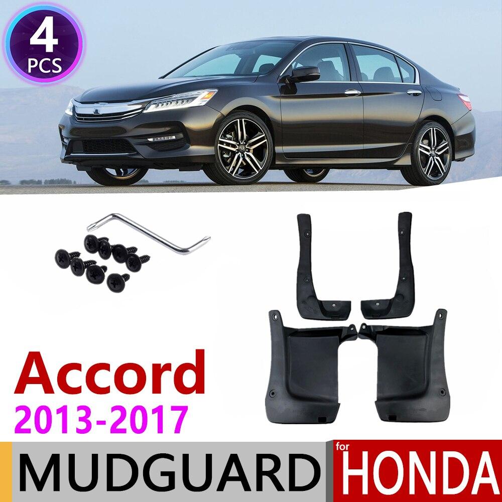 4 PCS Car Mudflap for Honda Accord 2013~2017 Fender Mud Guard Flap Splash Flaps Mudguards Accessories 2014 2015 2016 9th 9 Gen