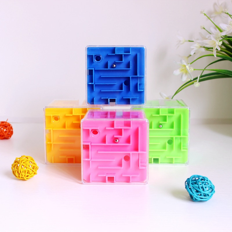 3D Big Size Speed Cube Maze Magic Cube Puzzle Game Labyrinth Rolling Ball Brain Learning Balance Educational Toys For Children A