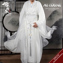 UWOWO-Disfraz de la serie de TV The Untamed Lan Wangji, traje de Cosplay de Mo Bao Zu Shi Original Lan Zhan, interior