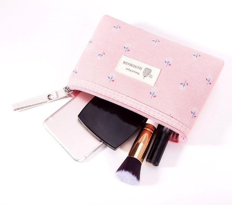 Новые милые женские косметички, повседневные дорожные портативные сумки для хранения, косметичка с цветочным принтом, сумки для туалетных ...