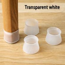 4 шт. прозрачный утолщенный чехол для ножек стола и стула износостойкий нескользящий чехол для ножек стула резиновый защитный чехол для ножек стула