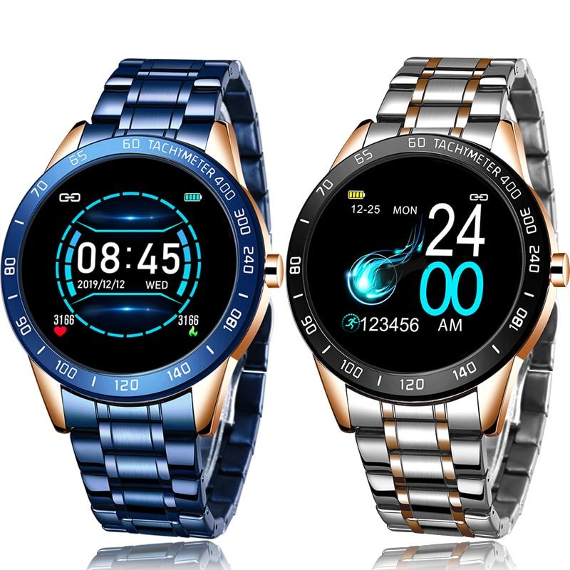 LIGE 2020 New Men Smart Bracelet LED Color screen Heart Rate Monitor Blood Pressure Fitness Band Sport Tracker Smart Watch+Box