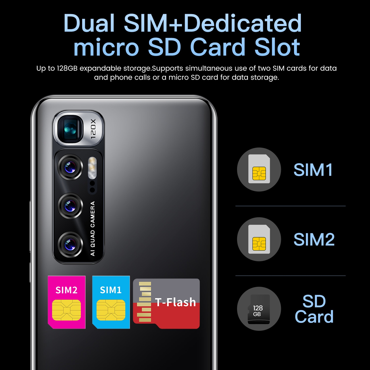 Global Version Note 10 Smart Phoen Android 10.0 Mobile Phones 6GB+128GB Phone 6.1 Inch 4G/5G Dual Card CellPhone enlarge
