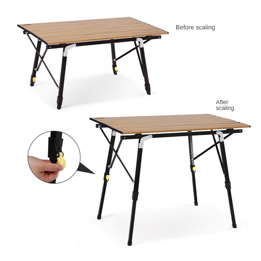 Портативный стол для кемпинга, легкий алюминиевый стол, складные столы с сетчатой сумкой, идеально подходит для кемпинга, готовки, пешего ту...