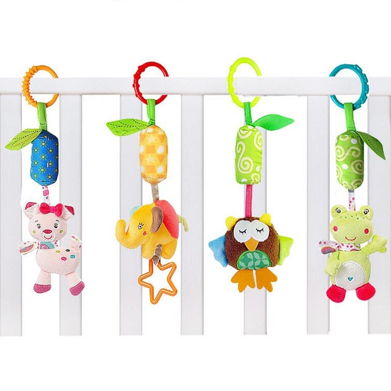 Infant Baby Cotton Rattle hand Bell Toy Animals Plush Development Gifts Toys Mobile Bed Chimes Rattles 40% off