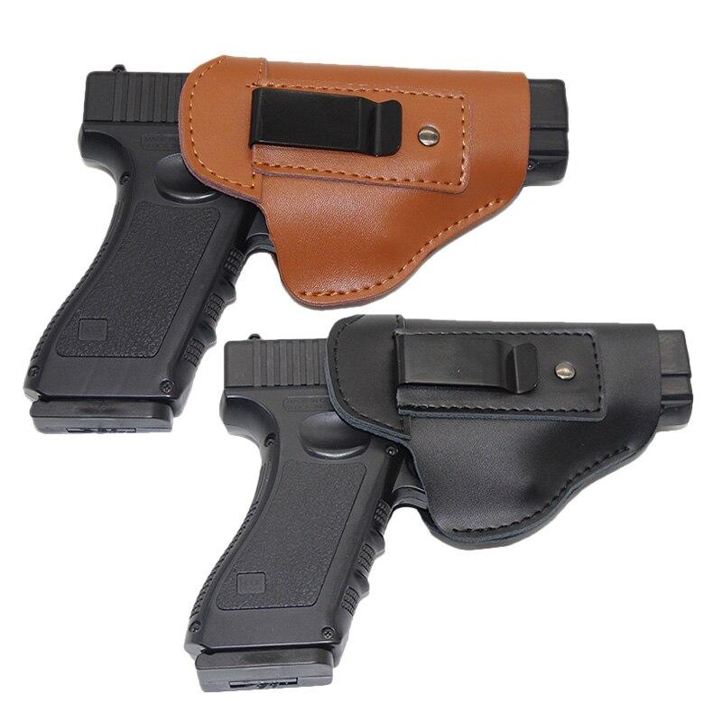 Tactical Airsoft Pistole Holster Links Hand Pistole Holster Sheath für Glock 17 18 19 22 Beretta M92 SIG P226 Cz 75 Makarov Verdeckte Holster Fall leder