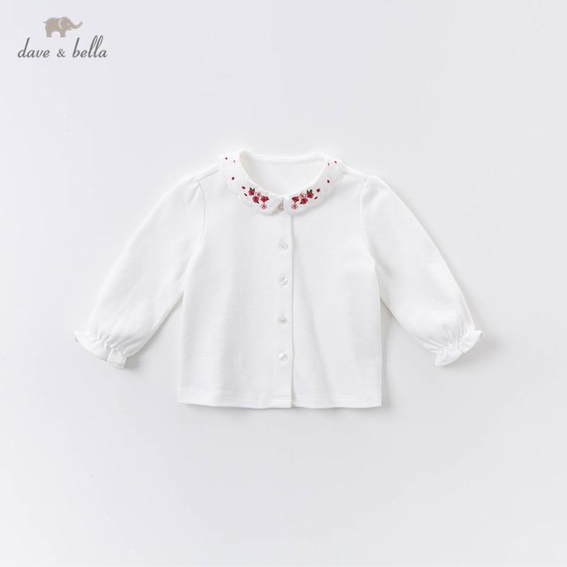 Dave bella/DBM14389; Осенние Рубашки с цветочной вышивкой для маленьких девочек; Топы для малышей; Детская одежда высокого качества|Блузки и рубашки| | АлиЭкспресс
