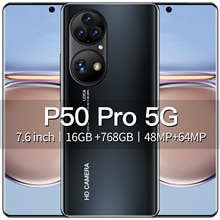 Original P50 Pro Smart Phone 16GB RAM 768GB ROM 7.6 Inch Real Perforated HD Screen Smartphone Androi